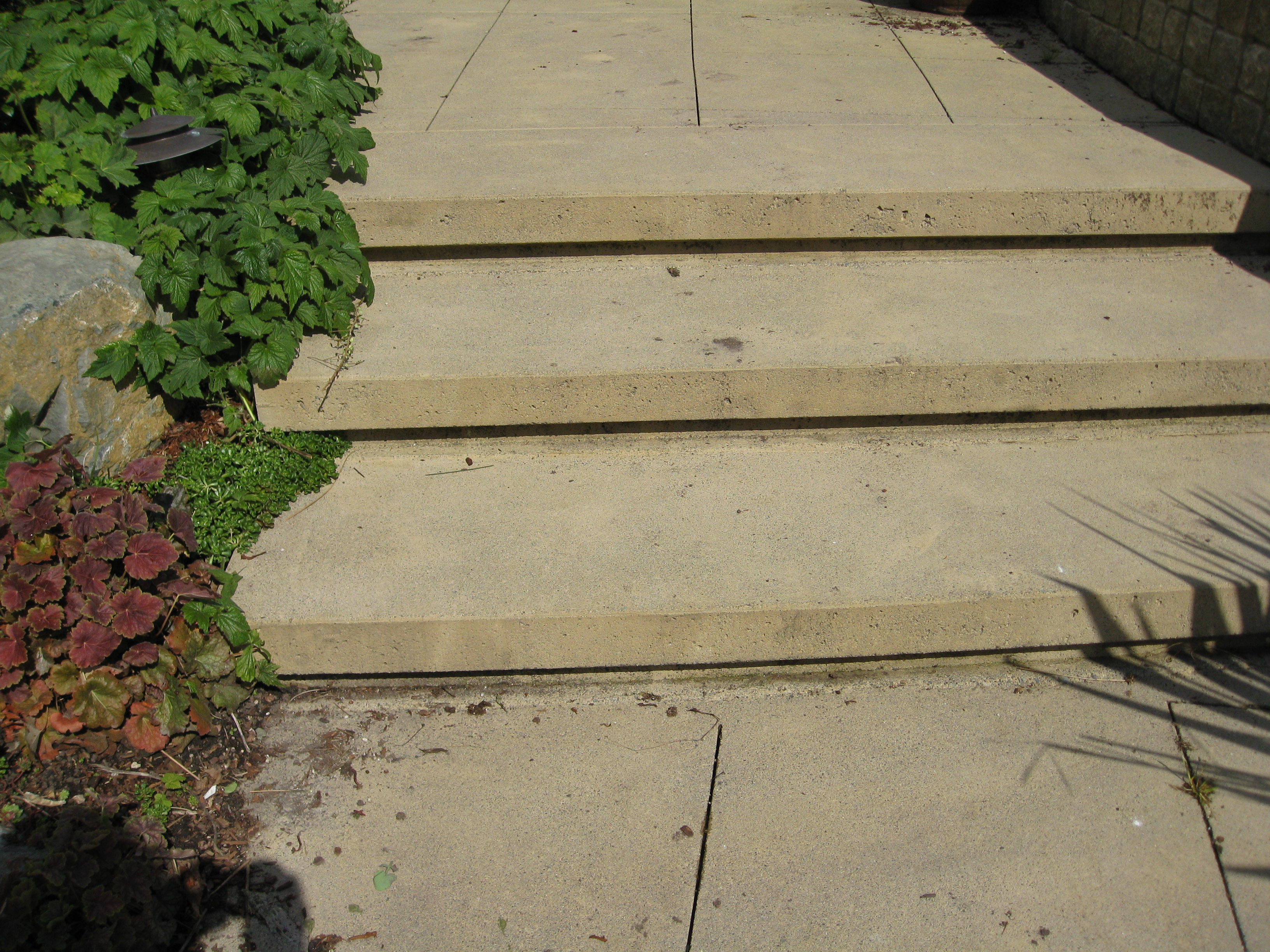 Custom Concrete Patio Step Ideas How To Create Patio Steps