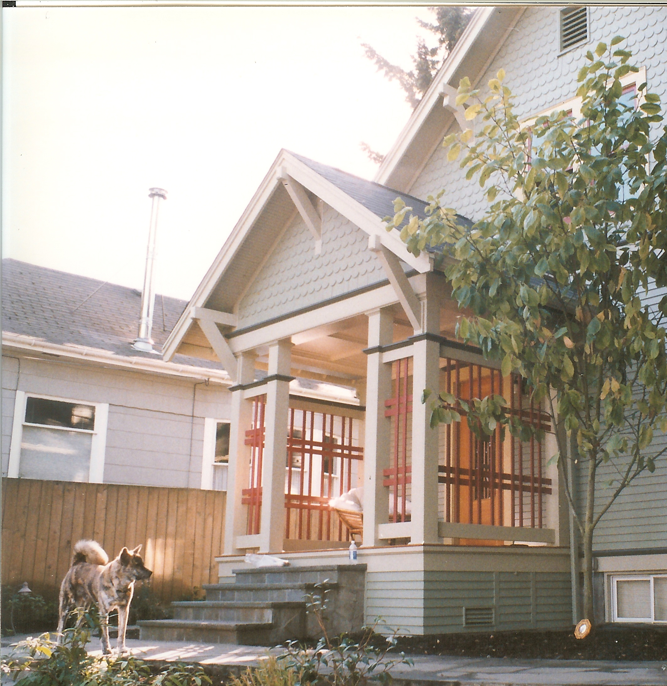 new traditional porch with stone steps green lake - katemartindesigncom - New Home Construction Steps